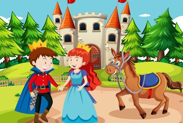 scene-with-prince-princess-castle_1308-54002